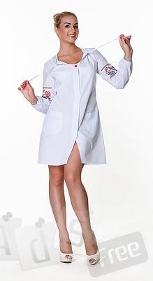 Патриотический медицинский халат