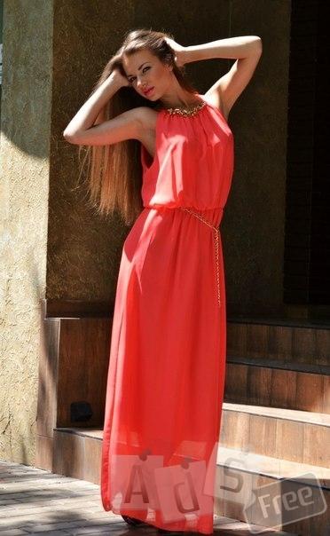 Платье легкое в пол