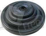 Блины черные обрезиненные 52 мм (отверстие d-52 мм, металл обрезиненный)