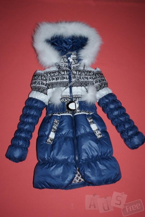 Куртка зимняя для девочки с орнаментом