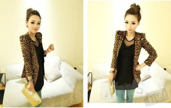 Куртка леопардовая новая