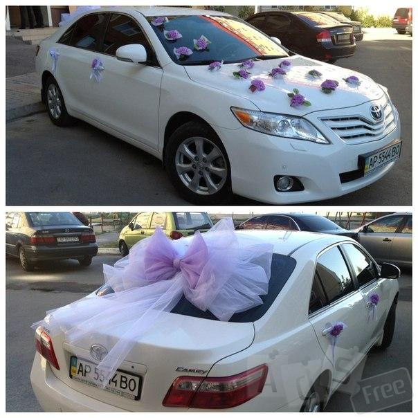 Прокат авто на свадьбу. белая Tayota Camry.