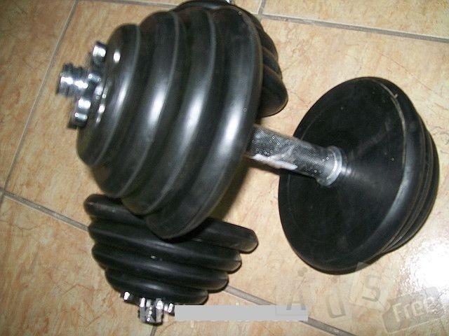 Гантели обрезиненные наборные 25 кг