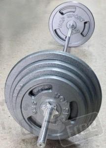 Штанга (стальнные блины) 57 кг