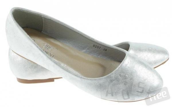 Новые балетки, под серебро