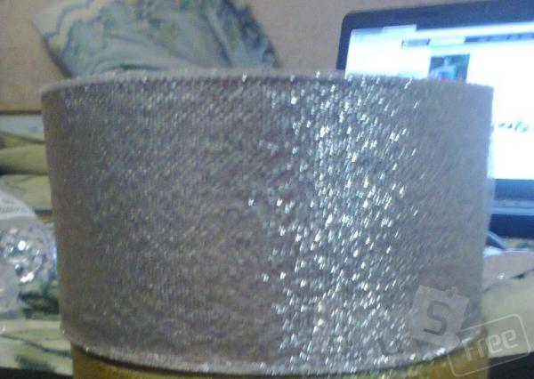 Лента цвет серебро