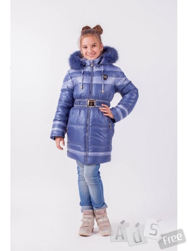 Куртка зимняя для девочки на возраст 7-8