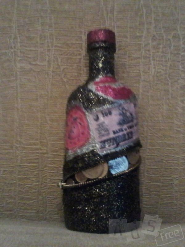 Сувенирная денежная бутылочка