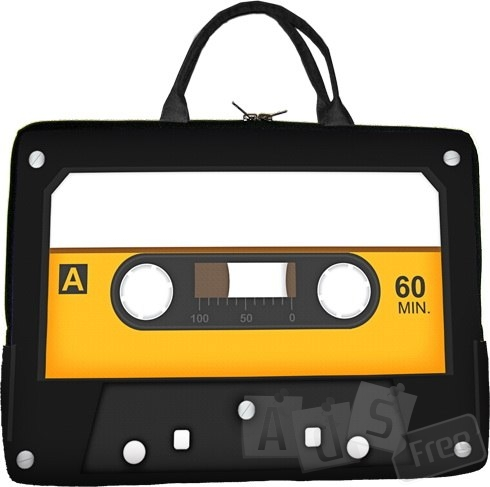 Новая сумка для ноутбука в виде аудиокассеты