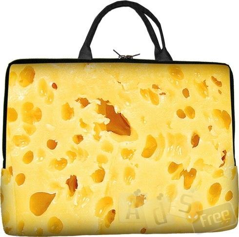 Женская сумка для ноутбука в виде сыра
