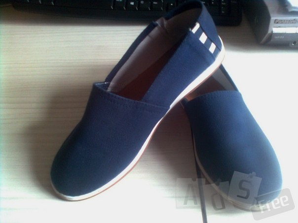 Парусиновые туфли без шнурков с кожаной стелькой Next