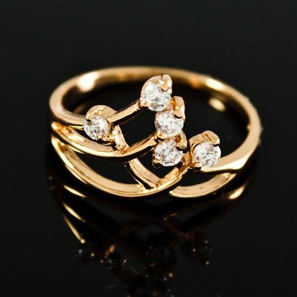 Кольцо позолоченное с камнями фианитами