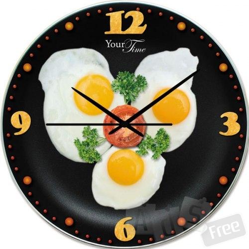 Часы настенные Яичница
