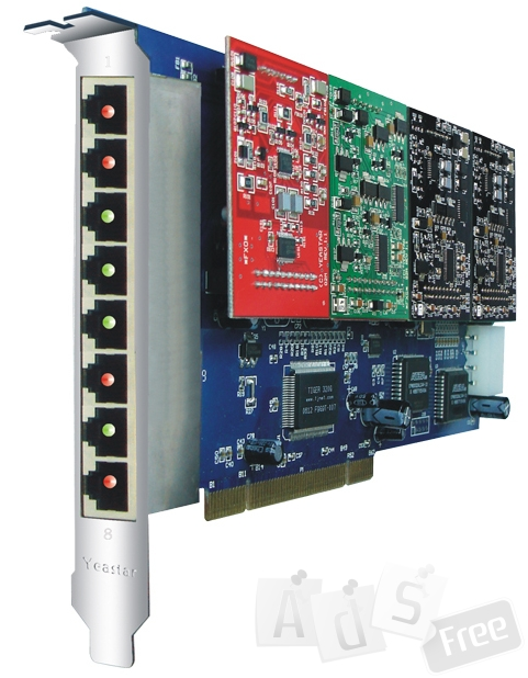 Плата расширения Yeastar TDM800