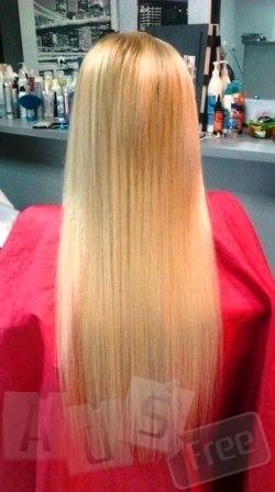 Наращивание волос, кератиновое выравнивание
